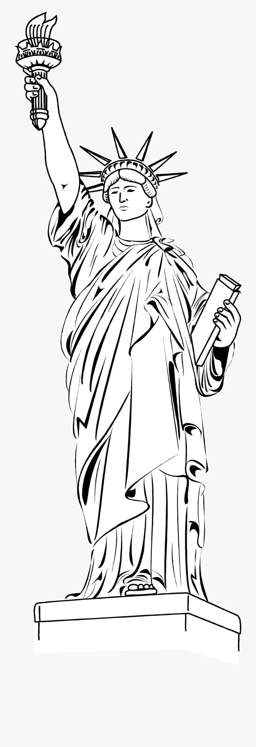 Transparent Statue Of Liberty Png - Statue Of Liberty ...