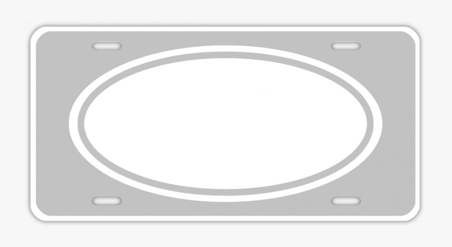 Custom Oval License Plates - Circle, Transparent Clipart