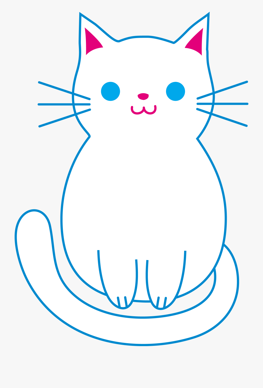 Clip Art Clipart Cats And Kittens - Animated Cat With Background, Transparent Clipart