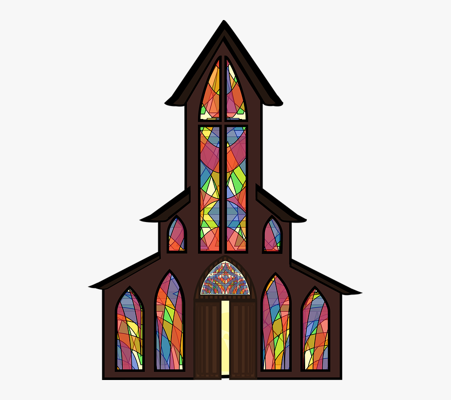 Graphic, Christmas, Advent, Church, Country Church - Stained Glass, Transparent Clipart