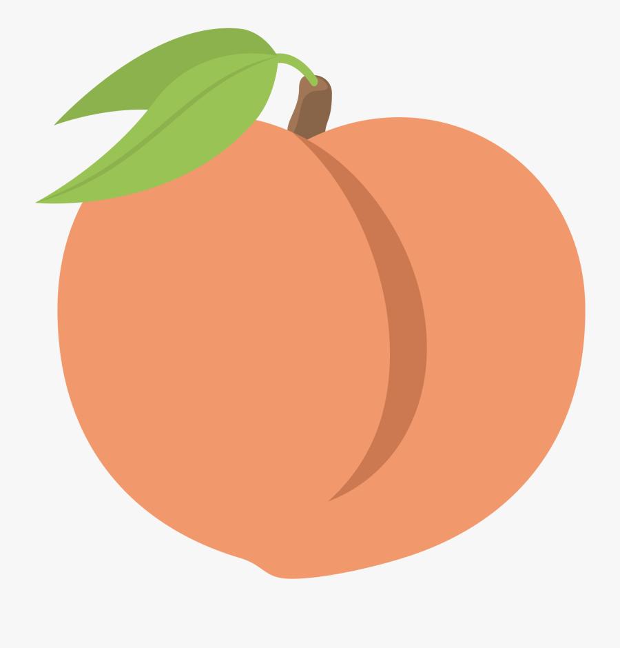 Transparent Emoji Peach Png - Transparent Background Peach Emoji, Transparent Clipart