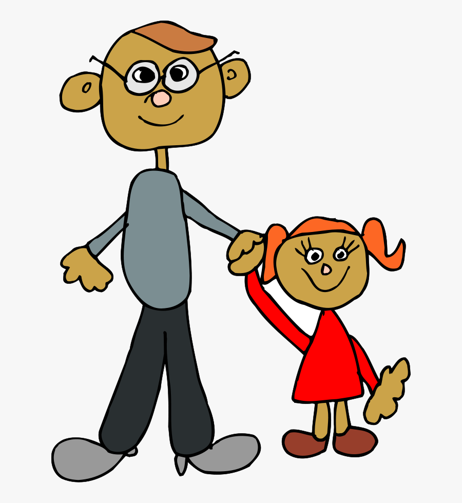 Dad Holding Daughters Hand Clipart, Vector Clip Art - Me And Dad Clipart, Transparent Clipart
