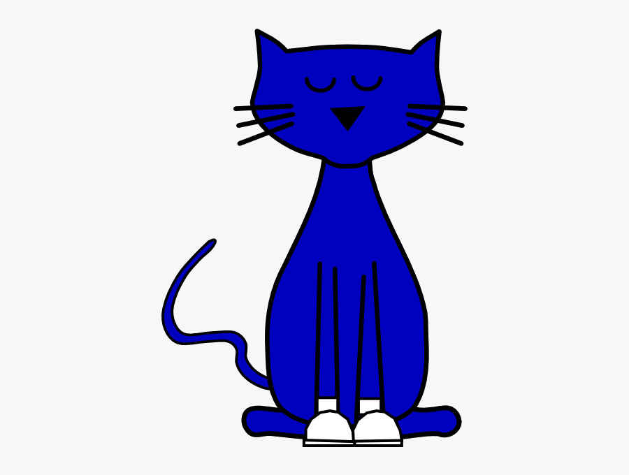 Pete The Cat Kitten Small To Medium Sized Cats Whiskers - Pet The Cat Clip Art, Transparent Clipart