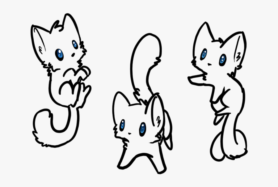 Kitten Clipart Simple Cat - Fnaf Cute Easy Drawings, Transparent Clipart