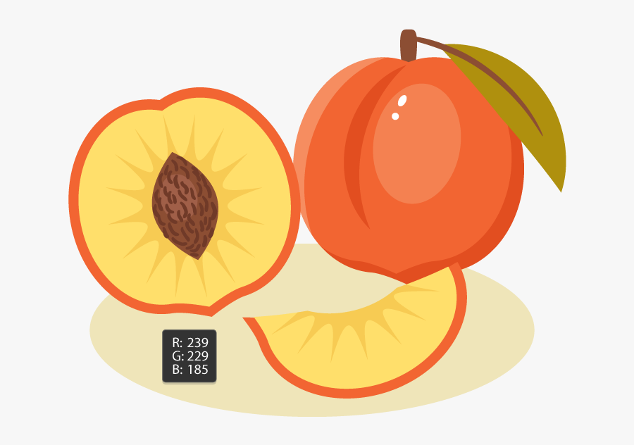 Transparent Peach Clip Art - Draw A Peach Illustrator, Transparent Clipart