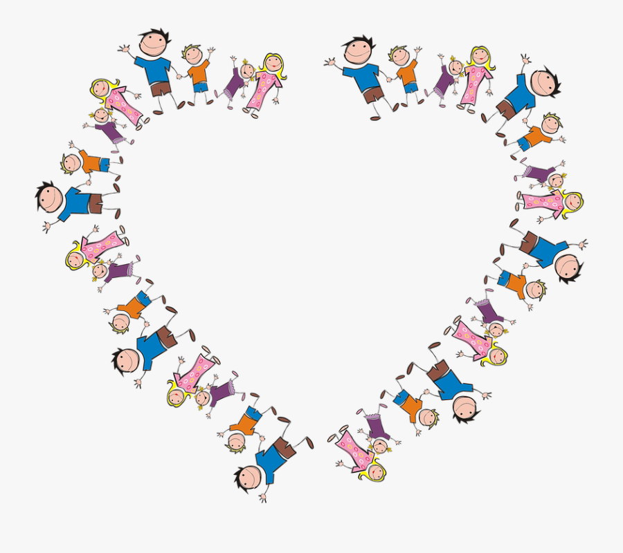 Family Frame Heart Border Boy Cartoon Comic Dad - Mother's Day 2019 India, Transparent Clipart