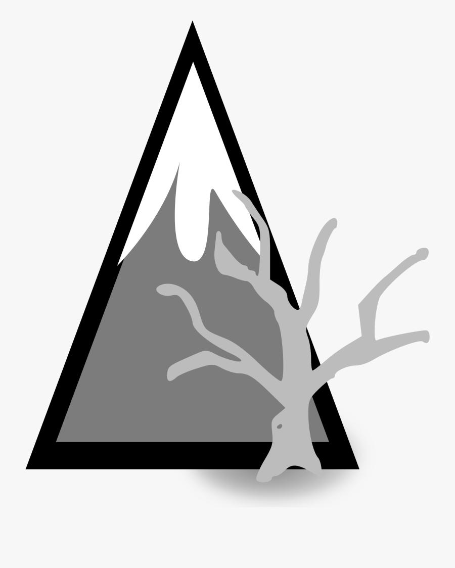 Transparent Stream Clipart Black And White - Landscape Mountain Hitam Putih, Transparent Clipart