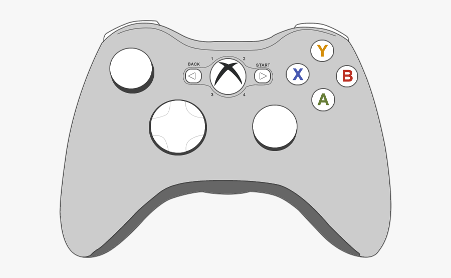 Collection Of Controller - Xbox One Coloring Pages, Transparent Clipart