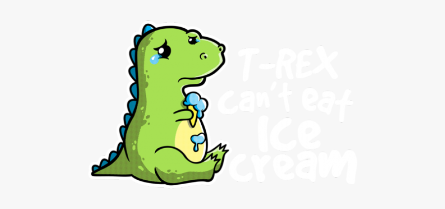 Sad Clipart Trex - Sad T Rex Cartoon, Transparent Clipart