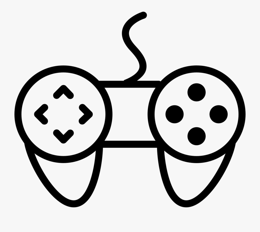 Game Controller Variant Comments - Computer Games Cartoon Black And White, Transparent Clipart