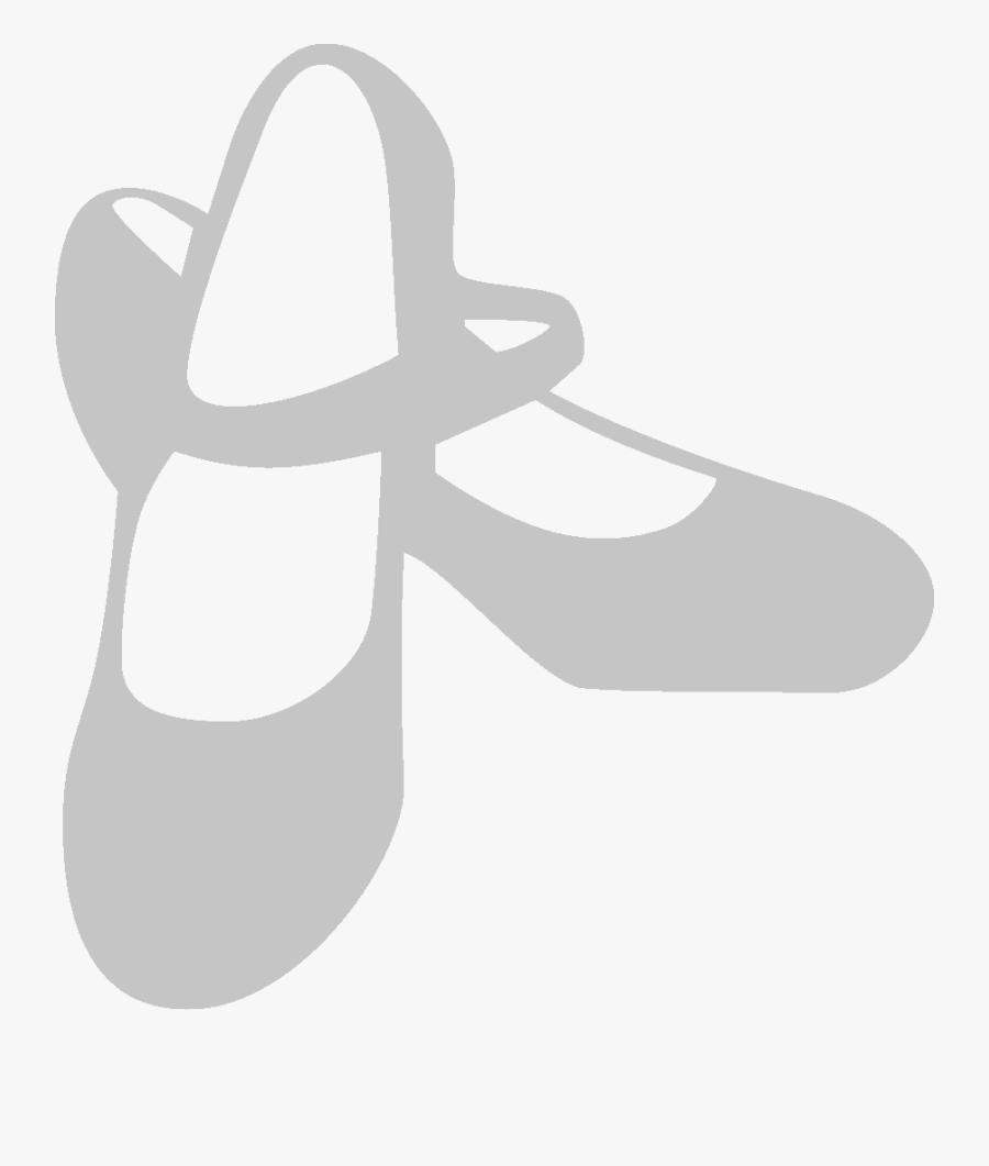 Dance Shoes Clipart Black And White - Dance Shoes Clipart, Transparent Clipart