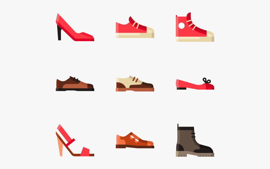 Icon Packs Vector - Shoes Icons, Transparent Clipart