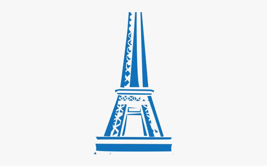 Paris Clipart Line - Eiffel Tower Drawing Png, Transparent Clipart