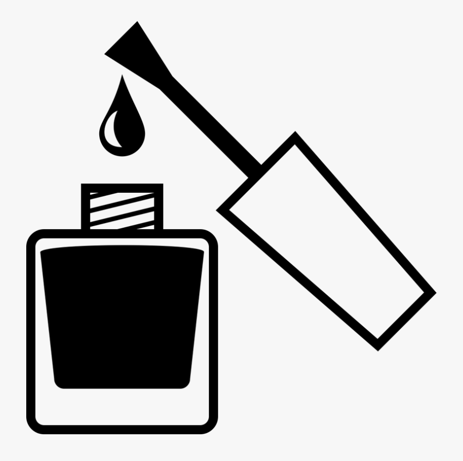 Nails Clipart Nail Care - Nail Polish Clipart Black And White, Transparent Clipart