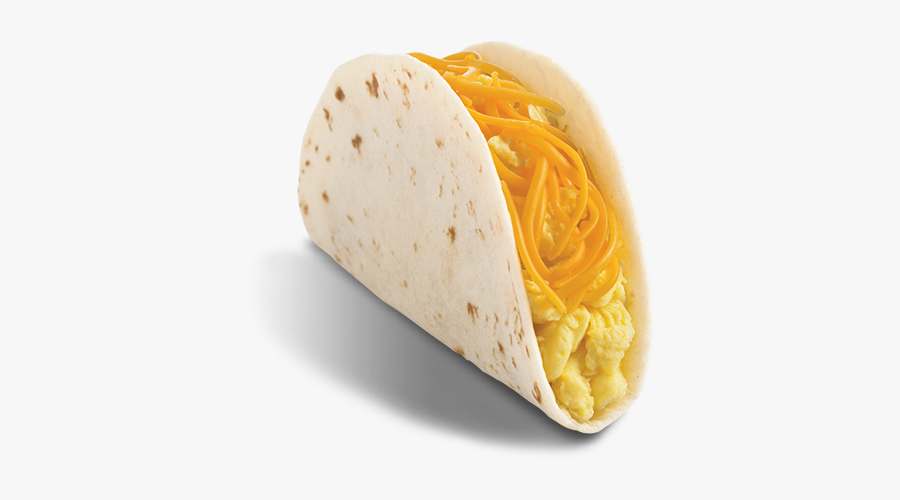 Taco Clipart Breakfast Taco - Breakfast Soft Taco Egg And Cheese, Transparent Clipart