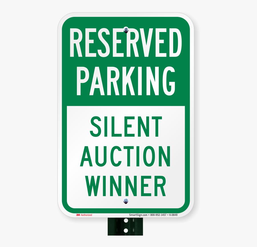 Sign Romeo Landinez Co - Silent Auction Parking Space, Transparent Clipart
