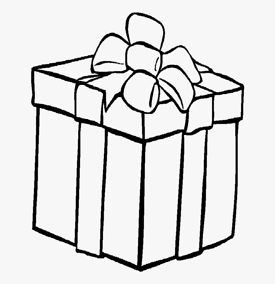 Printable Christmas Presents - Present Coloring Pages, Transparent Clipart