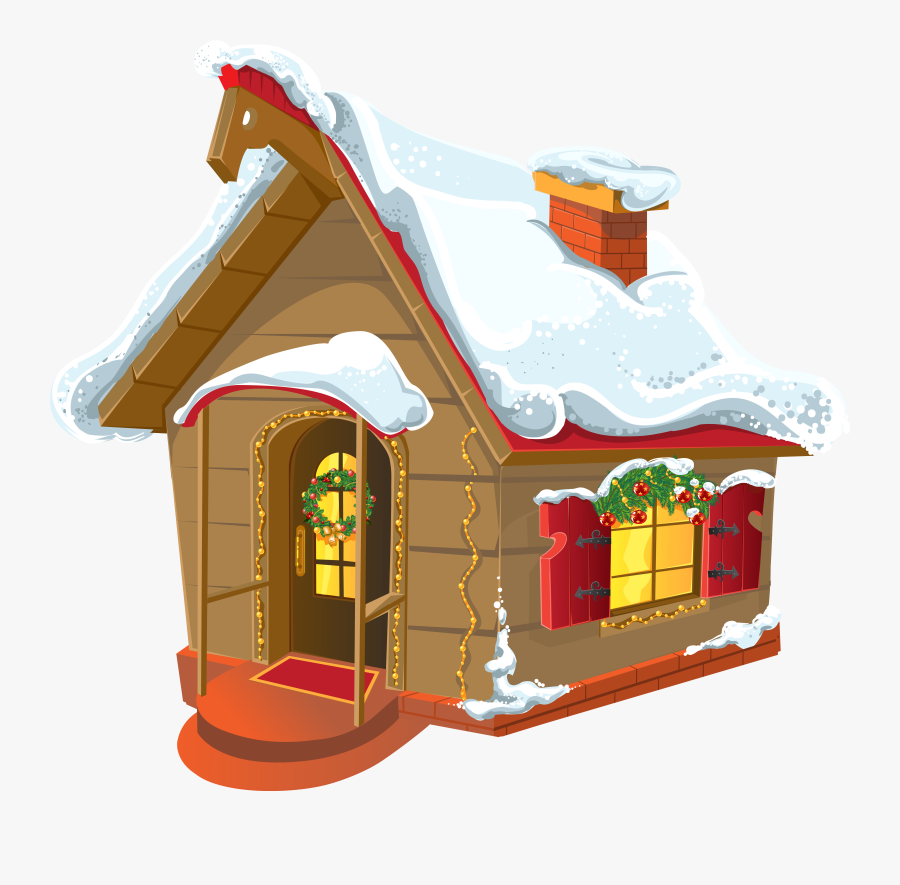 Clip Art Collection Of Free Cottaged - Christmas House Clipart, Transparent Clipart