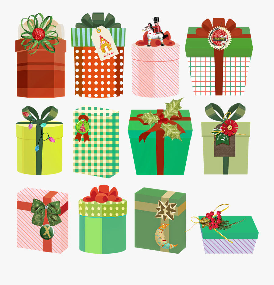Christmas Gifts, Presents, Christmas, Gift, Xmas - Srečno Novo Leto 2019, Transparent Clipart