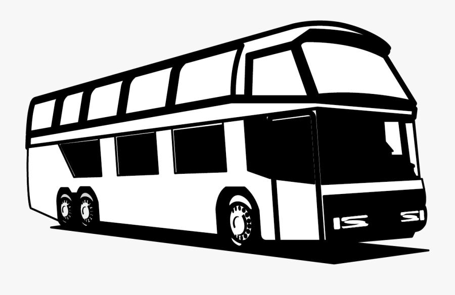 School Silhouette Service Bus Tour Vector Clipart - Tour Bus Vector Png, Transparent Clipart