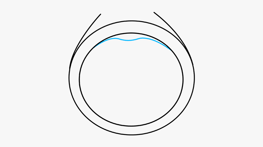 How To Draw A Diamond Ring - Drawing Ring, Transparent Clipart