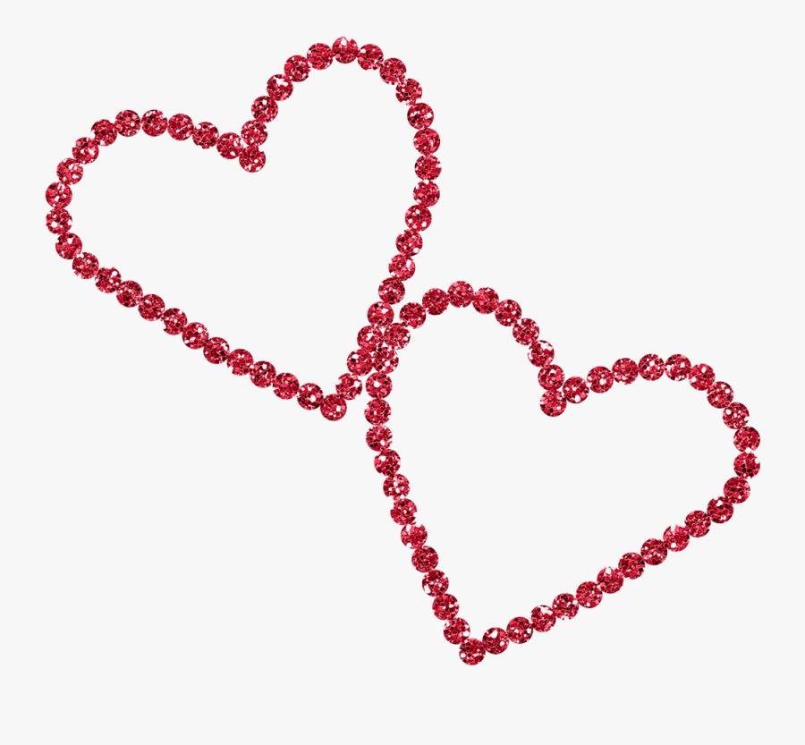 Red Diamond Heart, Transparent Clipart