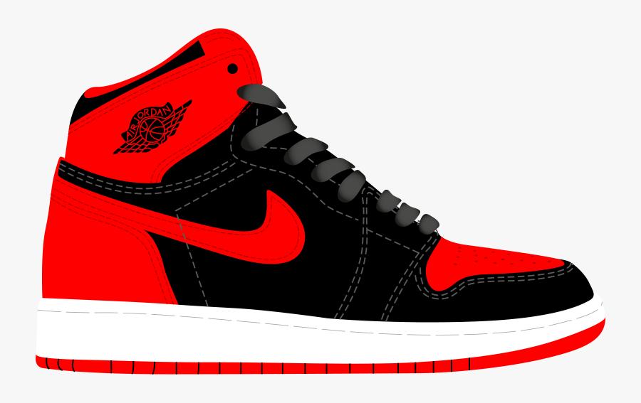 Nike Basketball Tennis Shoe Clipart - Jordan Shoes Clipart Png, Transparent Clipart