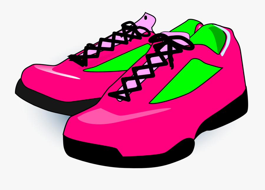 Shoes, Sneakers, Pink, Footwear, Fashion, Female - Shoes Clipart, Transparent Clipart