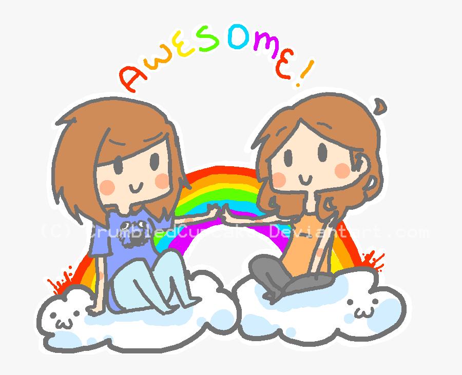Clip Art Two Friend Cupcakes - Cartoon, Transparent Clipart