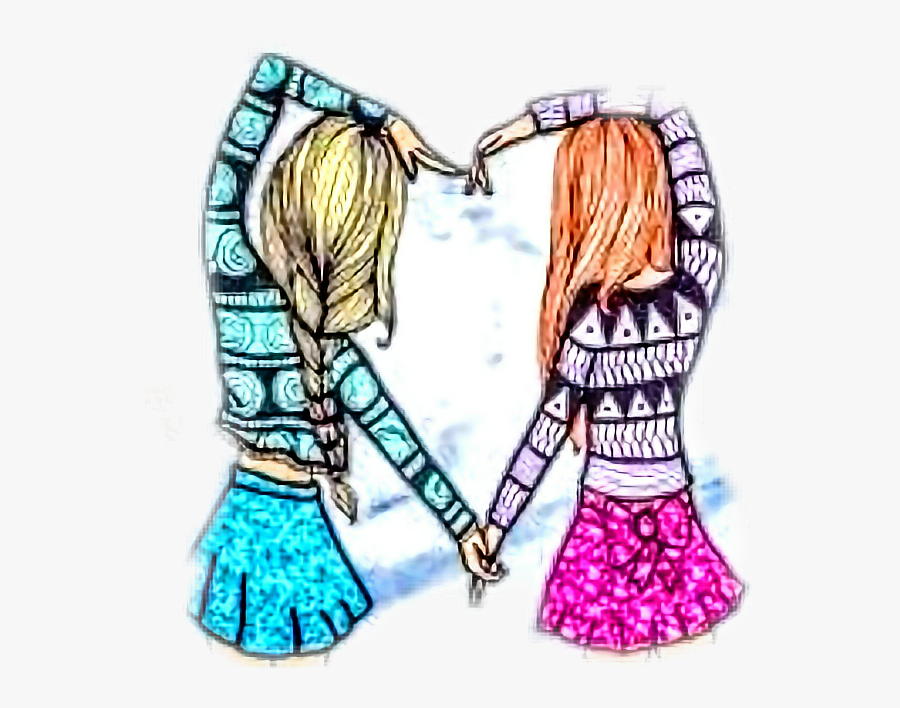 Friends Making Love Heart Clipart , Png Download - Imagen Best Friends, Transparent Clipart