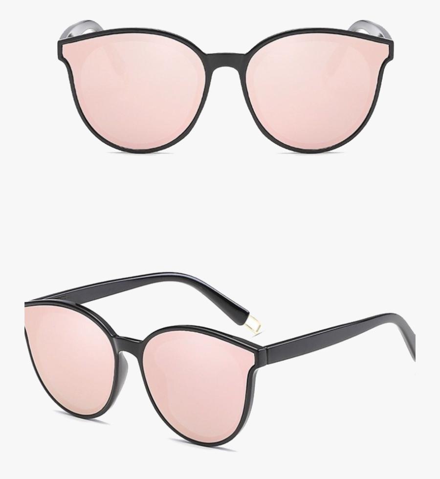 Mirrored Aviator Cat Eye Sunglasses, Transparent Clipart