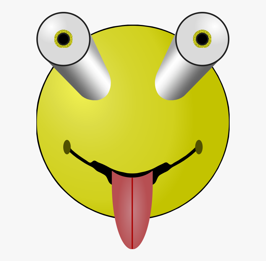 Emoticon,smiley,yellow - Bug Eyed Smiley Face, Transparent Clipart