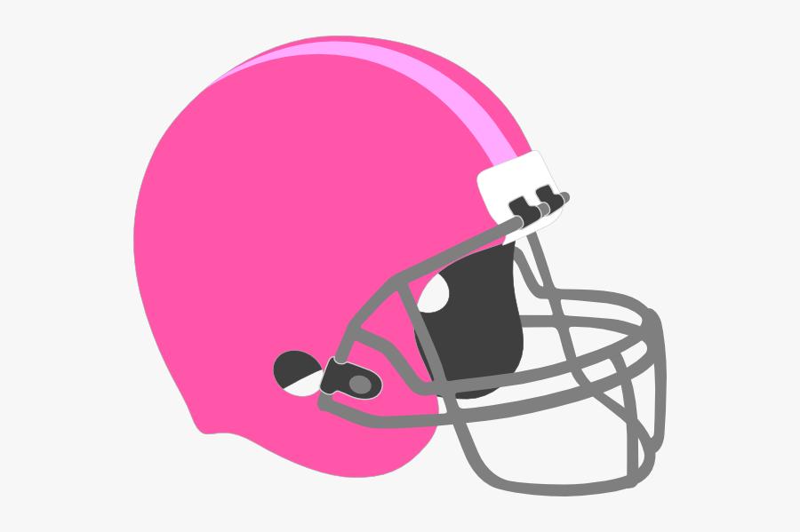 Pink Football Helmet Clip Art At Clker - Girl Fantasy Football Logo, Transparent Clipart