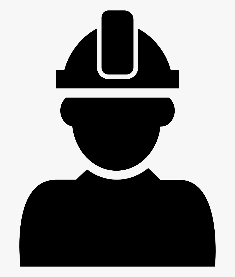 Transparent Hard Hat Png - Man With Hard Hat Icon, Transparent Clipart
