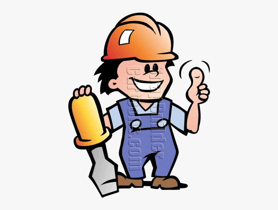 Mechanic Man With Screwdriver & Hard Hat - Hard Hat Man Clipart, Transparent Clipart