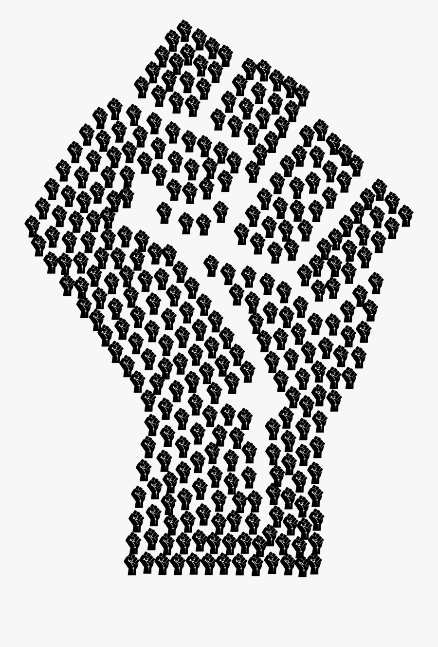 Fist Hand Clenched Free Picture - Black Fist Clip Art, Transparent Clipart
