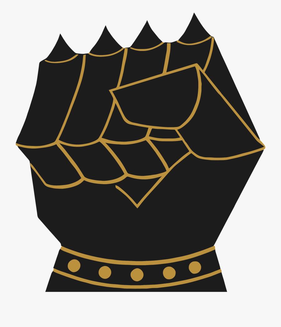 Vintage Armored Fist - Gauntlet Fist, Transparent Clipart
