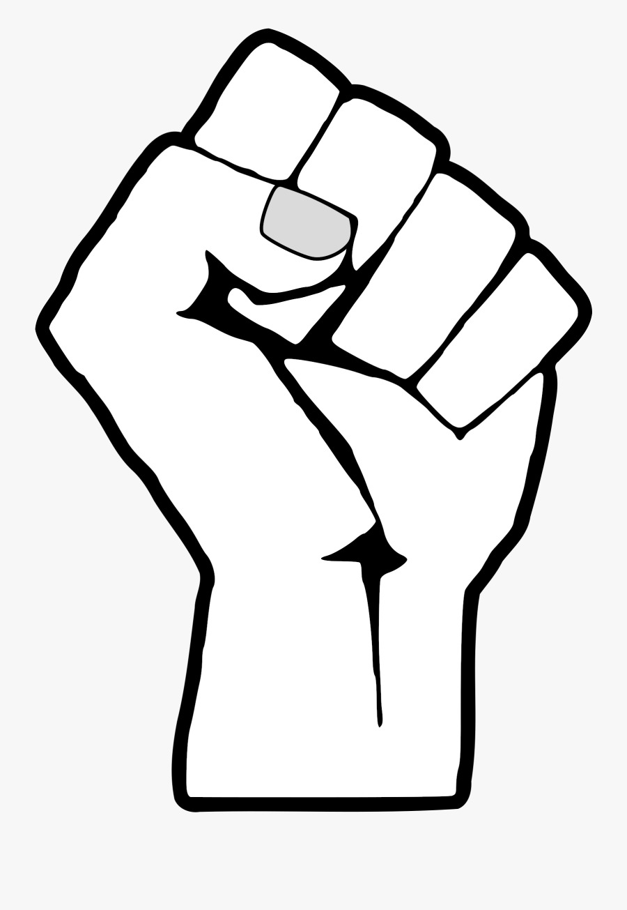 Raised Fist United States Black Power African-american - White Black Power Fist, Transparent Clipart