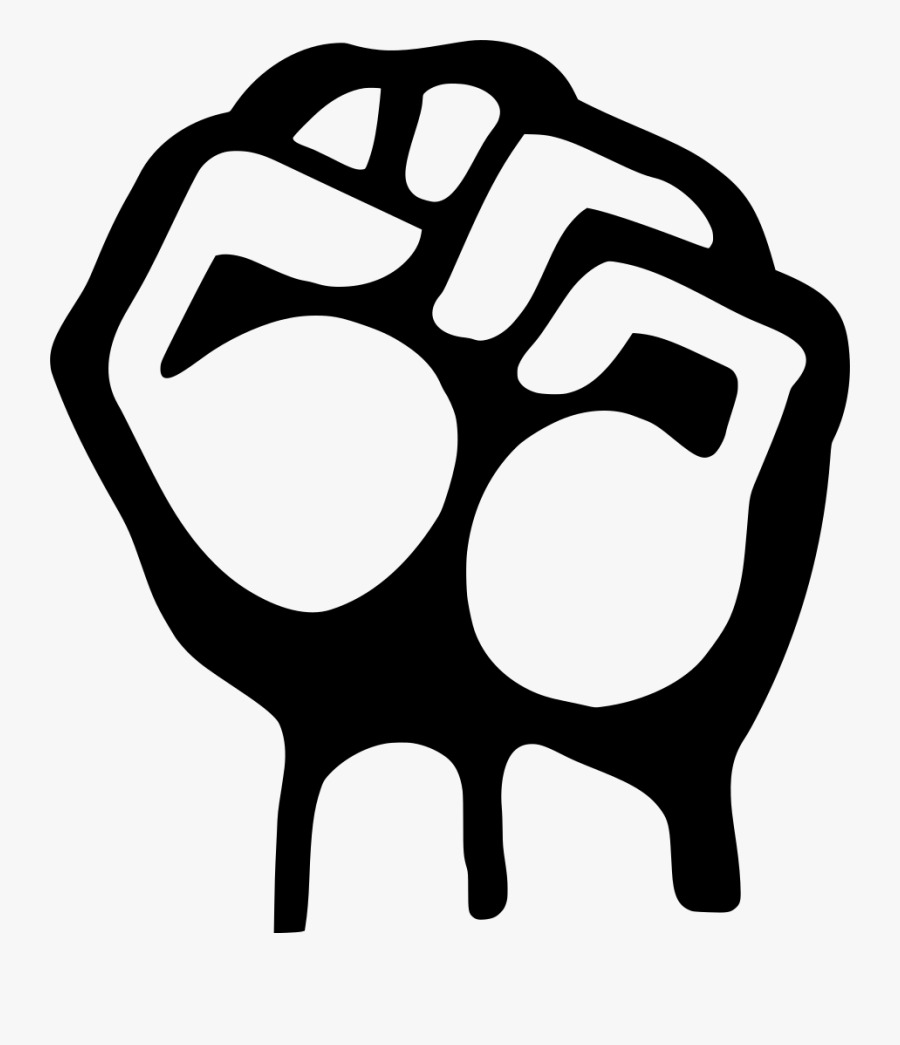 Hand, Fist, Clenched, Up, Symbol, Gesture, Left - Fist Up Png, Transparent Clipart
