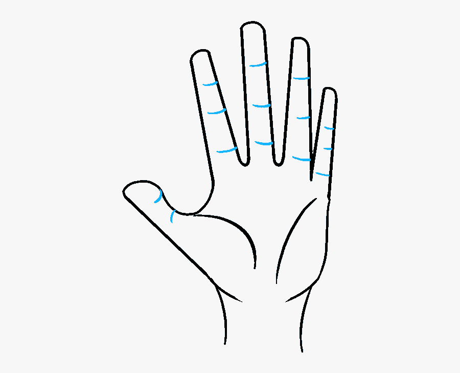 How To Draw A Hand Really Easy Drawing Tutorial Mensen - Drawing Picture Of Hands, Transparent Clipart