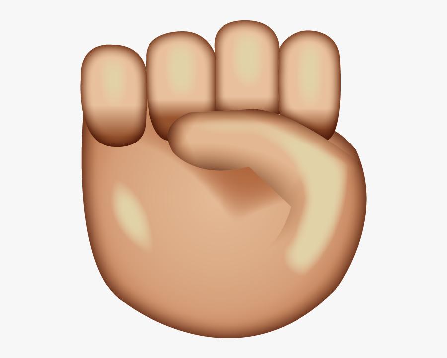 Raised Fist Emoji, Transparent Clipart