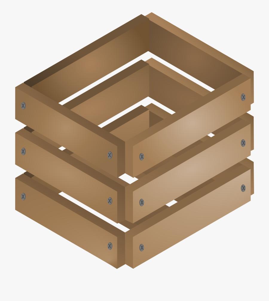 Wooden Crate - Crates Clip Art, Transparent Clipart