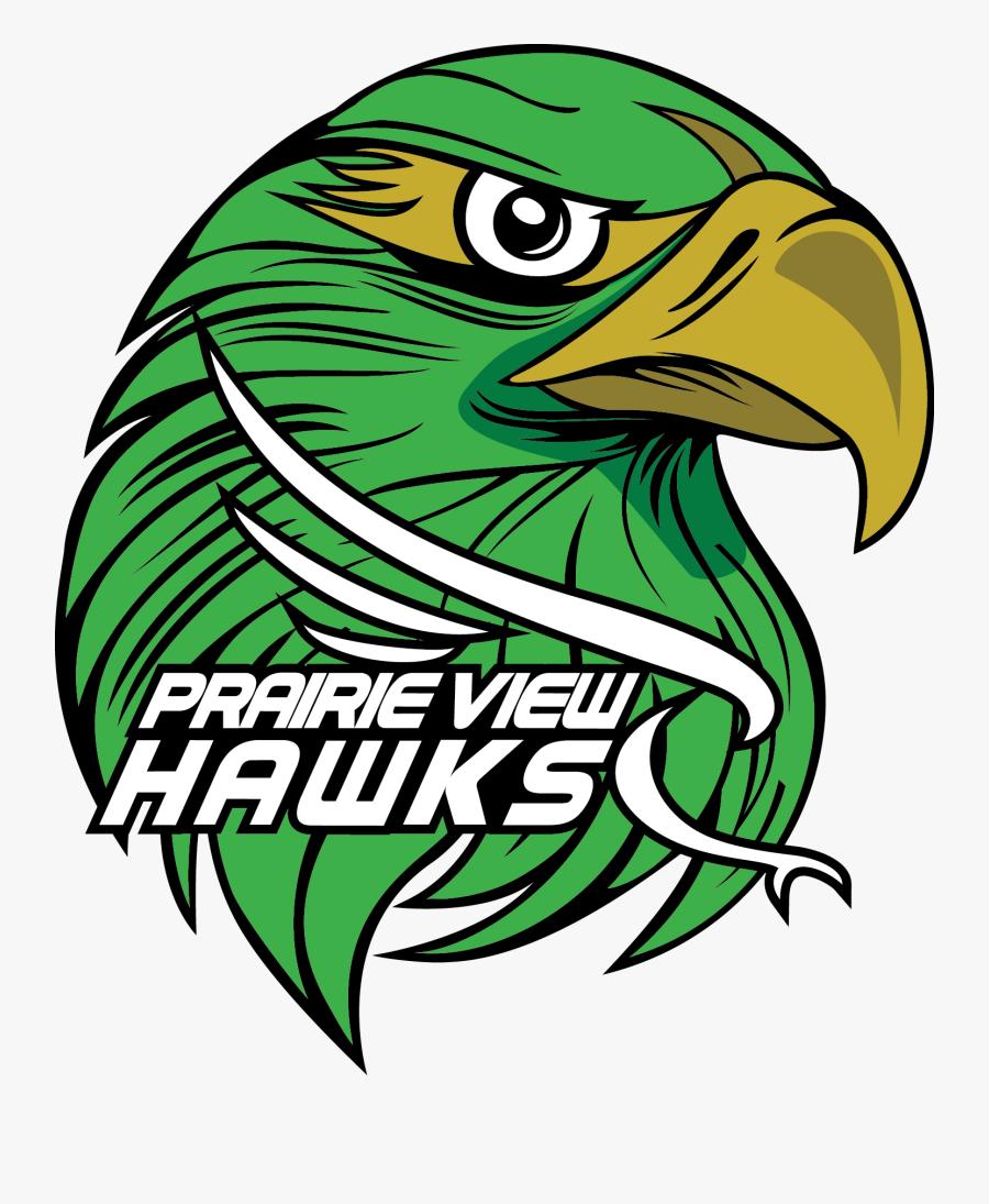 School Logo - Prairie View Elementary Hawks, Transparent Clipart