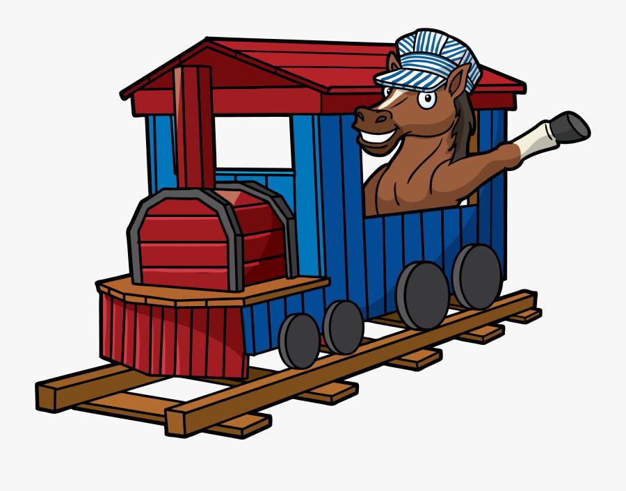 School Mascot In Train - Relay Elementary School Train, Transparent Clipart