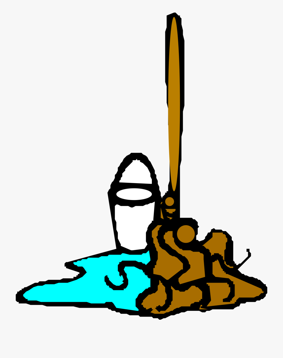 Mop And Bucket Clip Arts - Mop Clip Art, Transparent Clipart