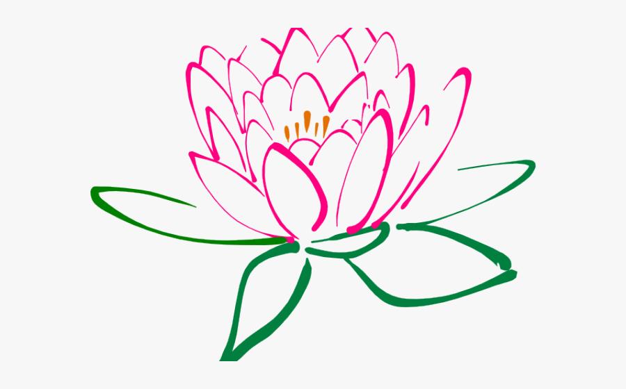 Clipart Purple Lotus Flower, Transparent Clipart