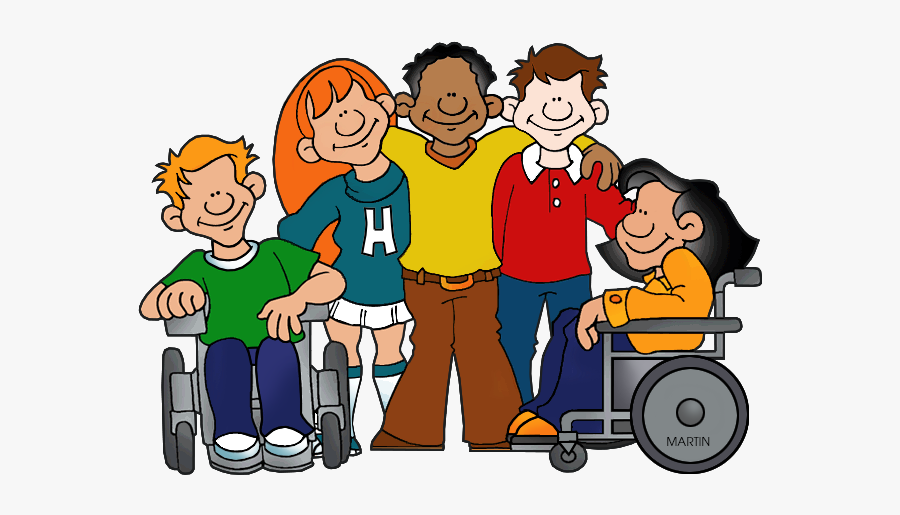 Five Students - Student In Wheelchair Clipart, Transparent Clipart