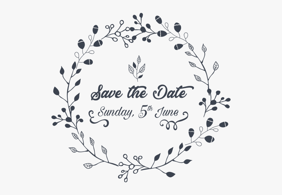 Clip Art Save The Date Invite - Save The Date Png Transparent, Transparent Clipart