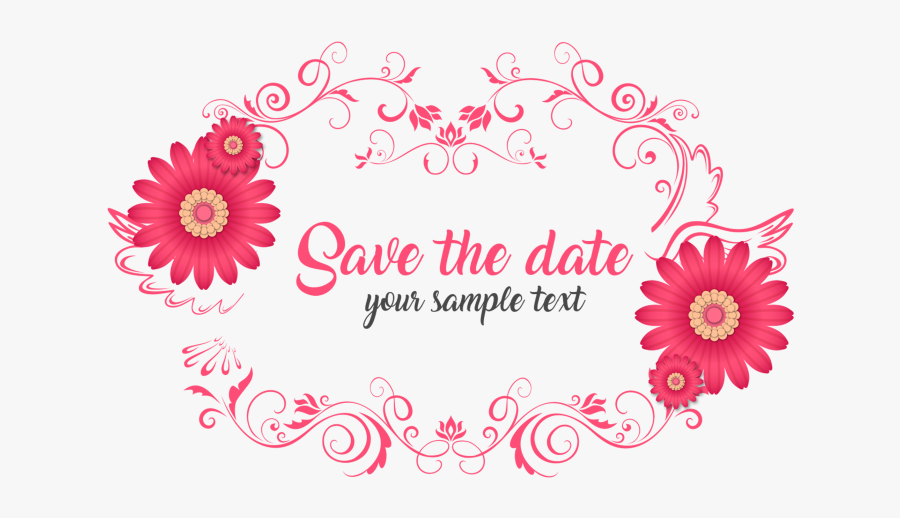 Clip Art Save The Date Clipart Free - Save The Date Psd File Free Download, Transparent Clipart