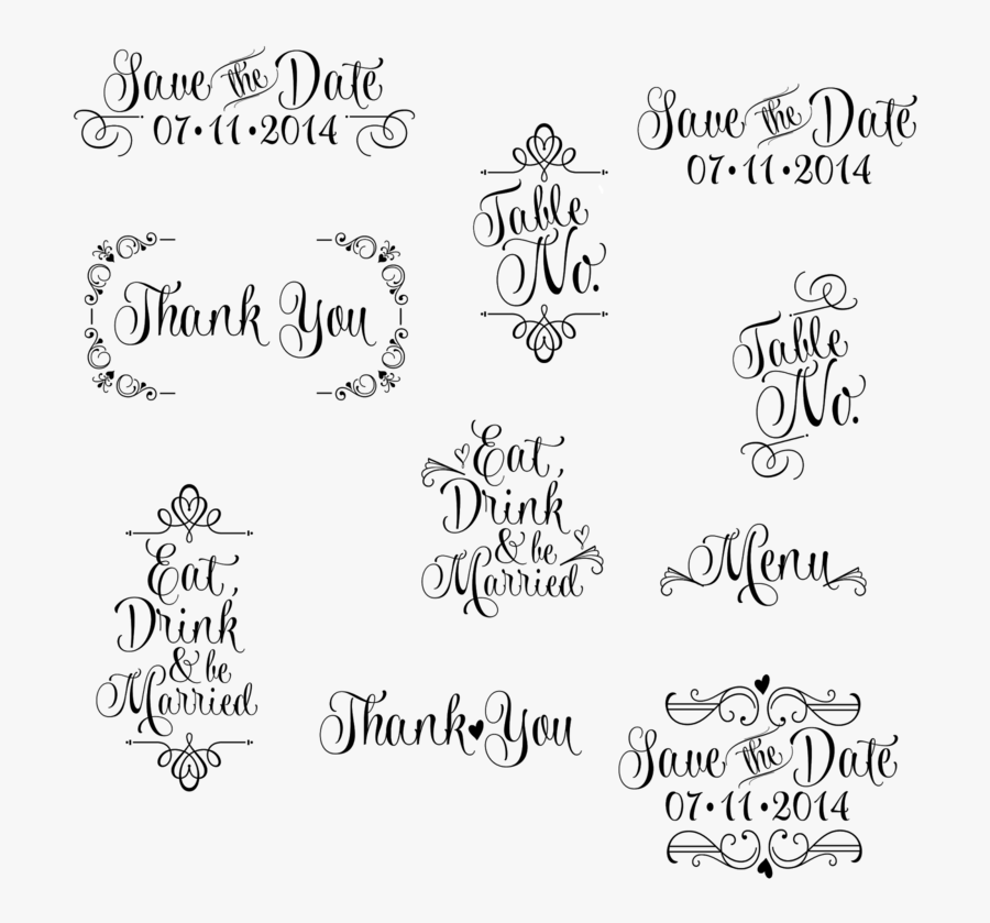 Transparent Wedding Save The Date Clipart - Save The Date Png Free Download, Transparent Clipart